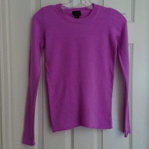J Crew Lilac Cashmere Long Sleeve Pullover XXS